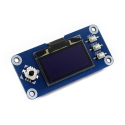 WaveShare 1.3 inch OLED Display HAT for Raspberry Pi - 128x64 - Thumbnail