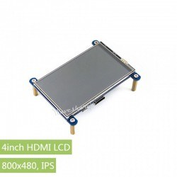 WaveShare 4inch HDMI LCD, 800×480, IPS - Thumbnail