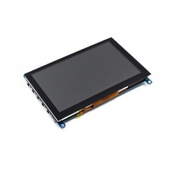 WaveShare - WaveShare 5 inch HDMI Capasitive Touch LCD (Multi System)- 800x480 (H)
