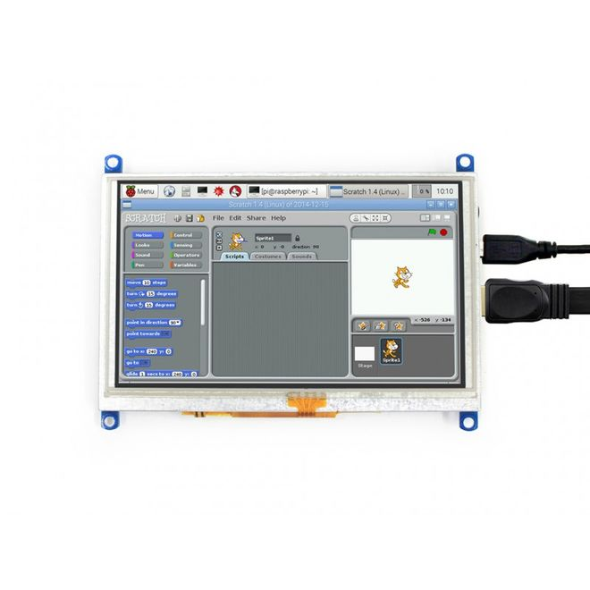 WaveShare 5 inch HDMI Resistive Touch LCD (Multi System)- 800x480 (G)
