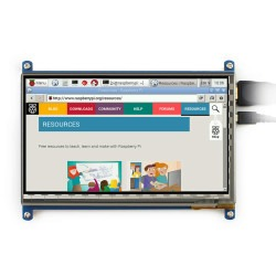 "WaveShare 7"" HDMI Capacitive LCD Touch Display - 800x480 - Thumbnail"