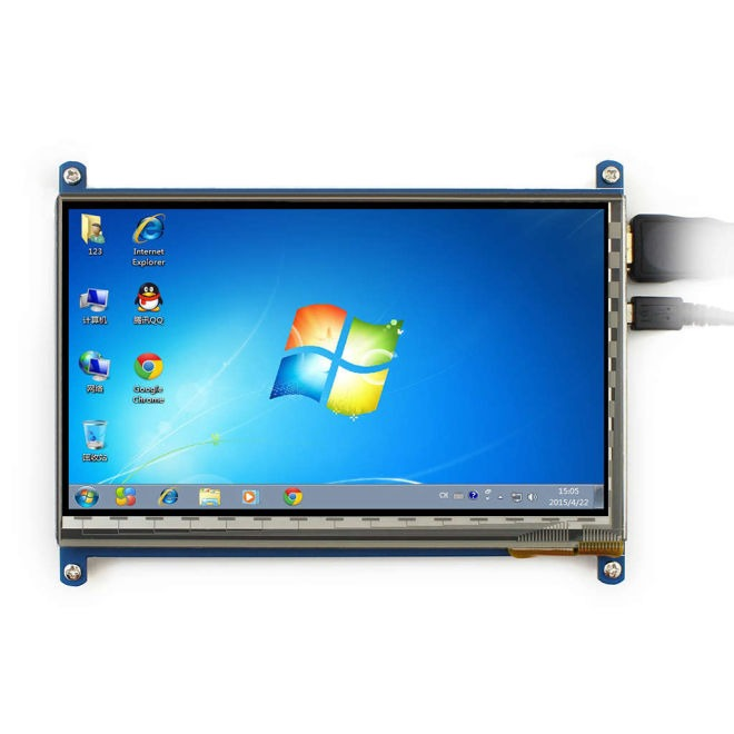 "WaveShare 7"" HDMI Capacitive LCD Touch Display - 800x480"