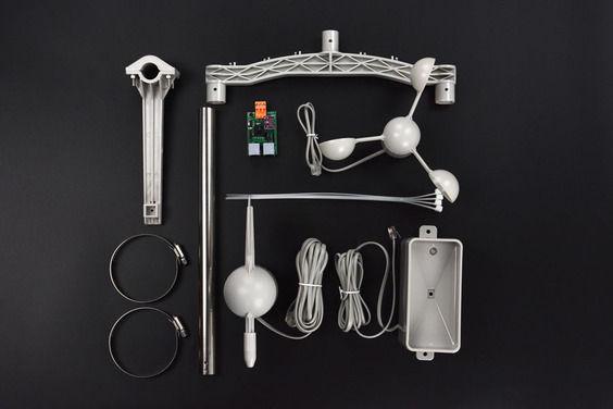 Weather Station Kit with Anemometer-Wind Vane-Rain Bucket