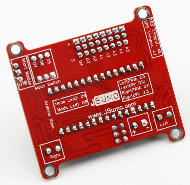 Wing Arduino Robot Board (Arduino NANO Not Included)
