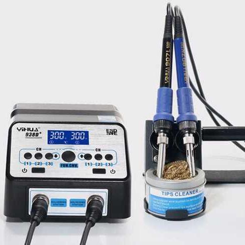 Yihua 938D Antistatik Çift Havyalı Dijital Göstergeli Lehimleme İstasyonu