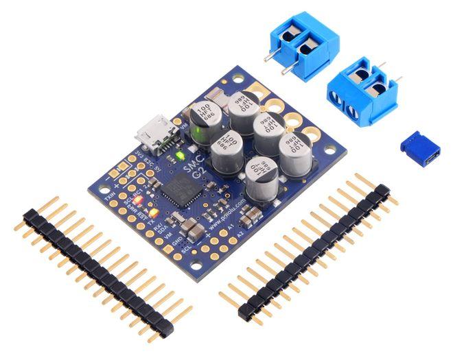 Yüksek Güçlü Motor Sürücü G2 (24V-19A) (PC-Serial-I2C-PWM-Analog)