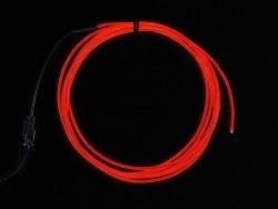 Adafruit - Yüksek Güçlü Uzun Ömürlü EL Wire - Kırmızı, 2.5 m - AF403