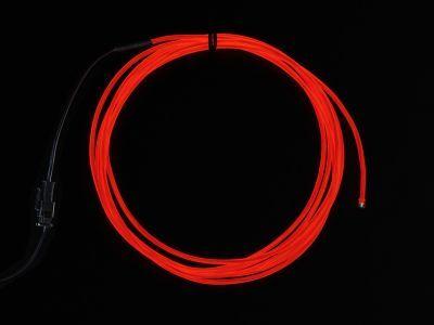 Yüksek Güçlü Uzun Ömürlü EL Wire - Kırmızı, 2.5 m - AF403