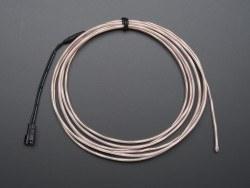 Yüksek Güçlü Uzun Ömürlü EL Wire - Beyaz, 2.5 m - AF410 - Thumbnail