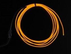 Yüksek Güçlü Uzun Ömürlü EL Wire - Turuncu, 2.5 m - AF405 - Thumbnail
