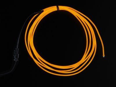 Yüksek Güçlü Uzun Ömürlü EL Wire - Turuncu, 2.5 m - AF405