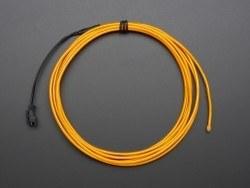 Yüksek Güçlü Uzun Ömürlü EL Wire - Sarı, 2.5 m - AF406 - Thumbnail
