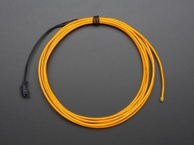 Yüksek Güçlü Uzun Ömürlü EL Wire - Sarı, 2.5 m - AF406