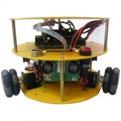 Yuvarlak Tipli 48 mm Omni Tekerlekli Hazır Robot Platformu (Dahili Sensör, Motor ve Anakartı) - 10019 - Thumbnail