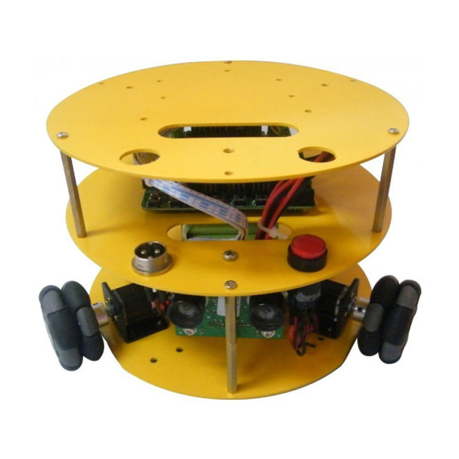 Yuvarlak Tipli 48 mm Omni Tekerlekli Hazır Robot Platformu (Dahili Sensör, Motor ve Anakartı) - 10019