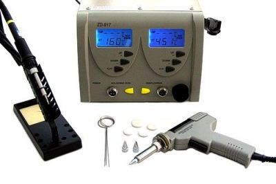 ZD-917 Adjustable Temperature Digital Soldering Station (Soldering Iron)